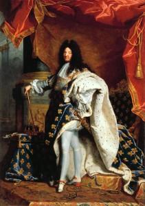 Portrait de Louis XIV en costume de sacre, Hyacinthe Rigaud, 1701 - Musée du Louvre.