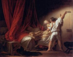 Jean-Honoré Fragonard, Le Verrou, 1777, Paris, Musée du Louvre.